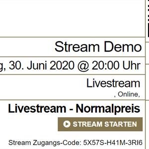 Livestream Ticket