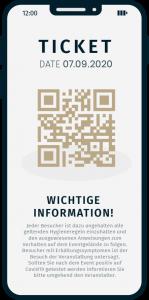 Darstellung wichtiger Informationen möglich auf den Besucher Tickets