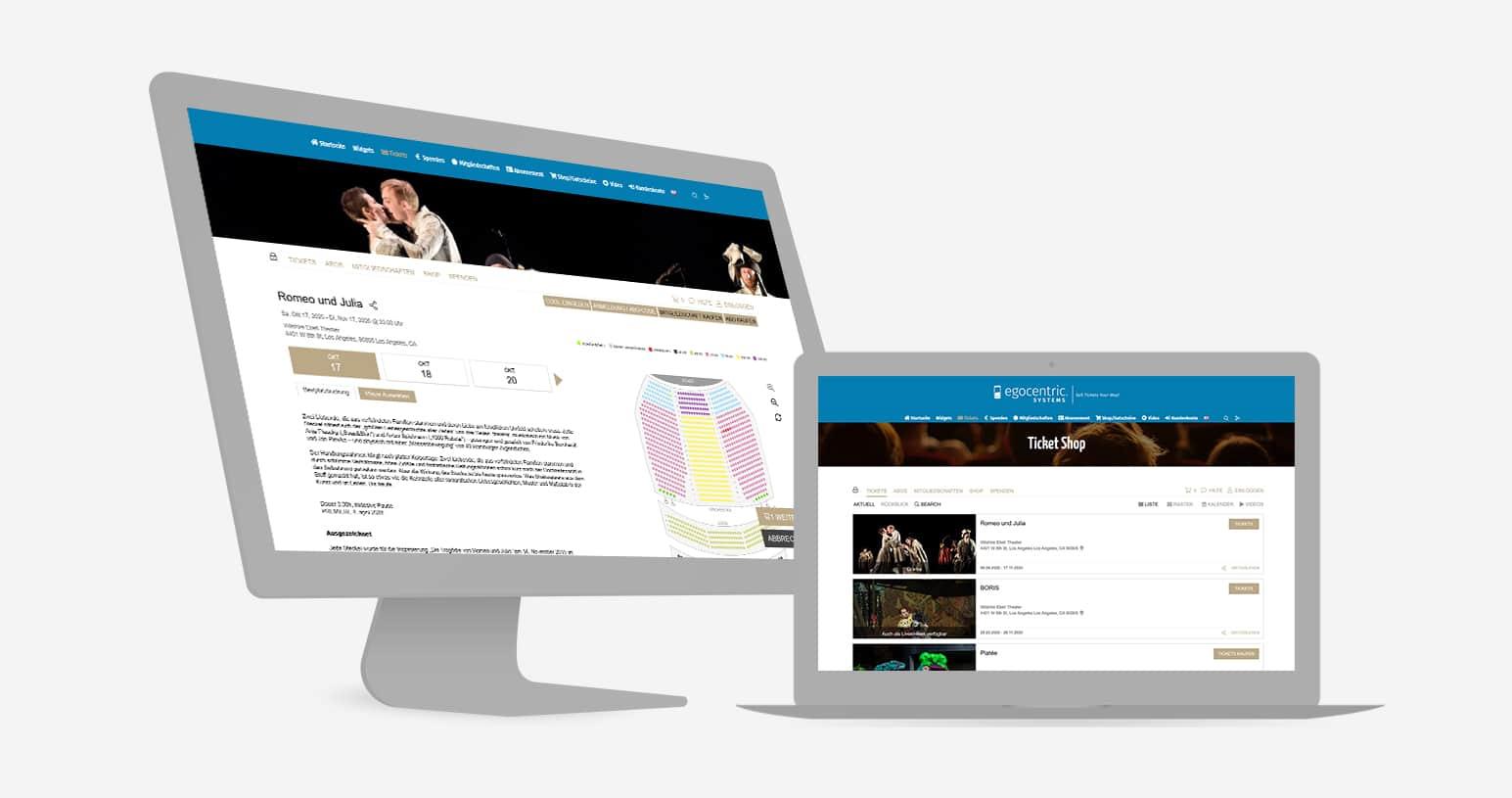 Verkaufe Deine eigenen Tickets für Dein Theater mit der Event Ticketing Software von egocentric Systems