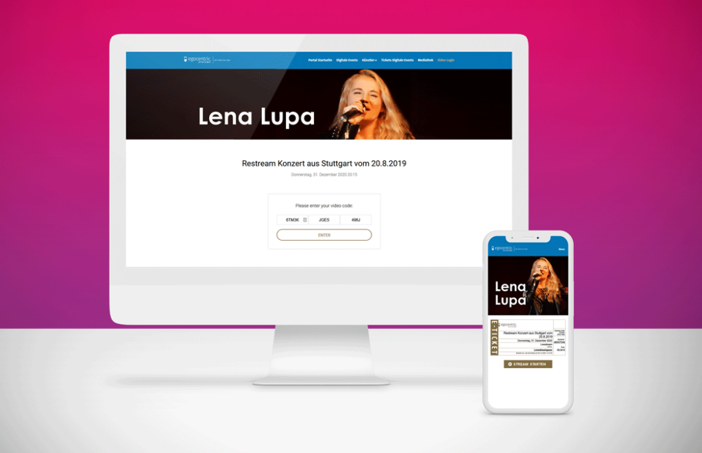 Garantierte Bezahlung und einzigartiger Livestream-Zugang