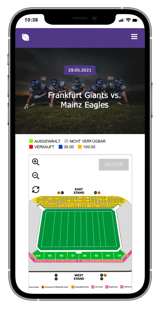 ticket shop for your sports organisation