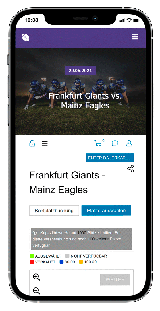 event ticketing software for all kind of sports